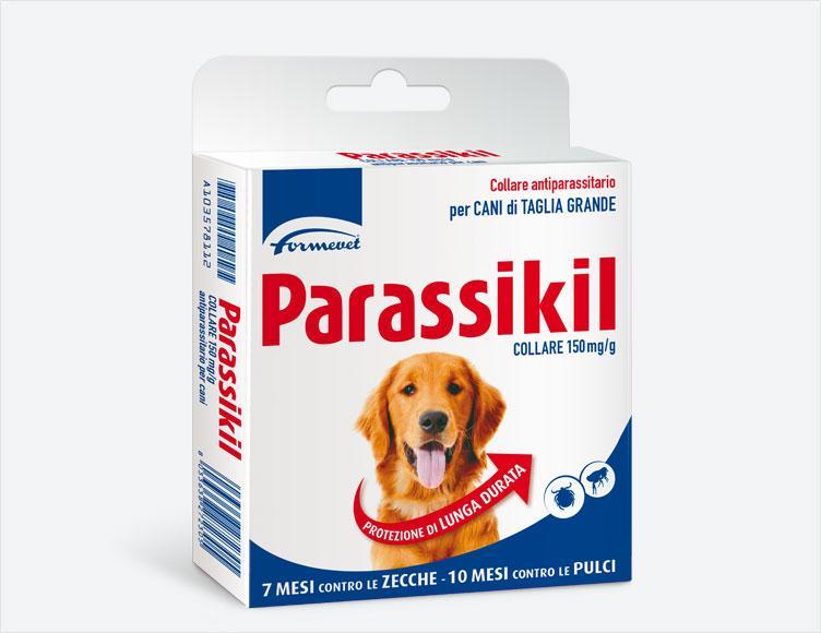 Parassikil Collare 150 Mgg Collare Antiparassitario Per Cani Di